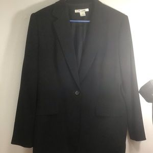 Black,jacket, one button, fully lined Nygard SZ 14